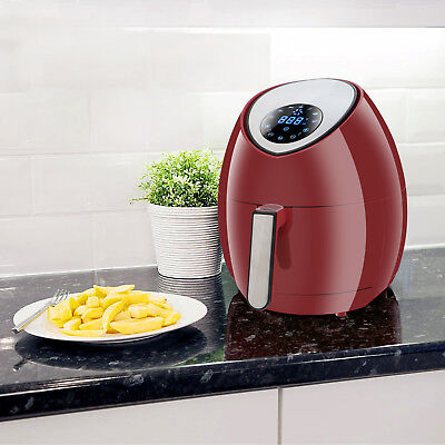 Rapid Air Fryer Electric Low-fat Hot Steam Cooker Large Capacity W Lcd Display