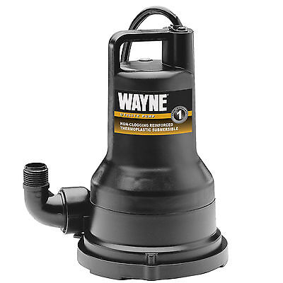 Water Sump Garden Submersible Utility Pump 12 Hp 2500 Gph Pool Pond Basin Hose