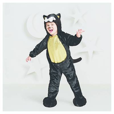 Hyde & Eek Black Cat Plush Costume Halloween Dress Up Play Jumpsuit Toddler - Toddler Black Cat Costume Halloween