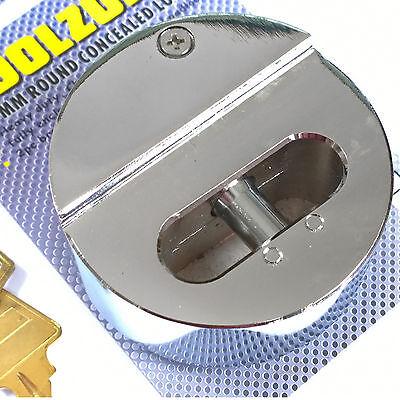 73mm Round Concealed Padlock. Heavy Duty Shutter Gate Door Van Replacement Lock
