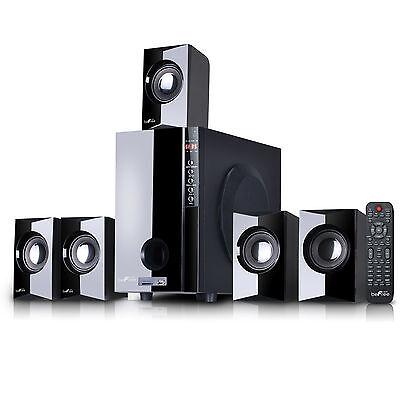 beFree Sound 5.1 Channel Surround Sound Bluetooth Speaker System USB/SD/FM Radio 5.1 Surround Sound Usb