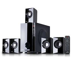 beFree Sound 5.1 Channel Surround Sound Bluetooth Speaker System USB/SD/FM Radio