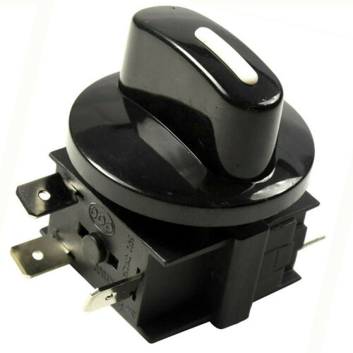 Rotary Switch 4Position 3Speed 120V-250V 15A Fan Heater Speed Selector UL Listed