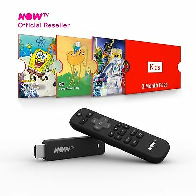 NOW TV Smart Stick with HD & Voice Search with 3 Month Kids Pass Brand New