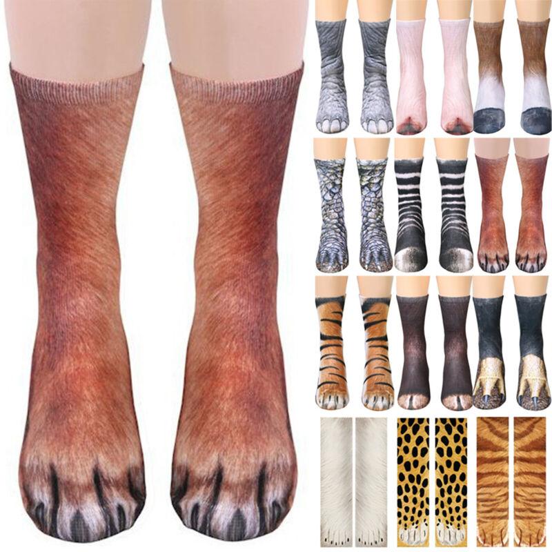 Novelty 3D Print Crew Socks Unisex Women Mens Tiger Cat Anim