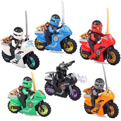 US SHIP Ninja Ninjago Jay Cole Lloyd Kai Zane Lord 6 Minifigures LEGO Compatible