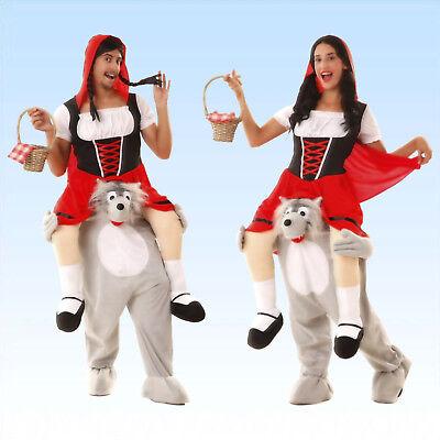Kostüm Rotkäppchen und der Wolf Gr. M/L Unisexkostüm Märchen Faschingskostüm ()