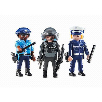 Playmobil 3 Police Officers Building Set 6501 NEW Learning Toys Educational