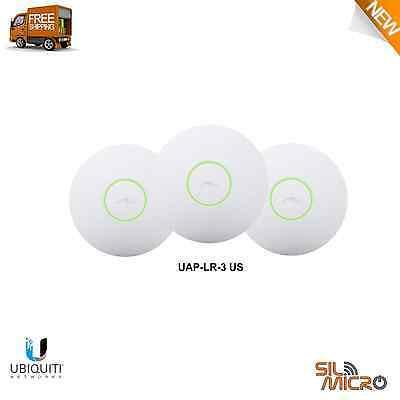 Ubiquiti UAP-LR-3-US, UniFi AP Long Range 3 Pack (POE), 802.11n