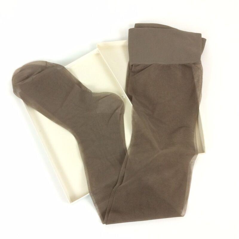 Sears Royal Purple Proportioned Fit Stockings 11-12 Tealeaf Reinforced Toe Heel