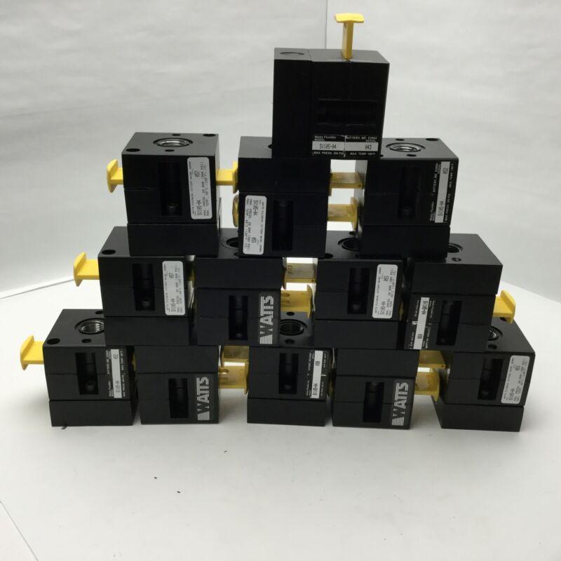 Lot of 13 Watts SV105-04 3 Port 2 Position Lockout Shutoff Valves, 300Psi Max