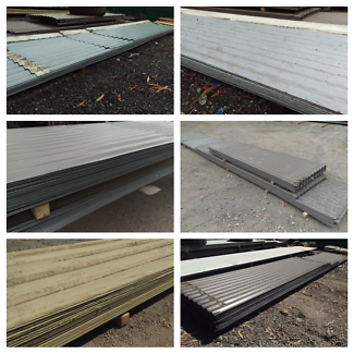Bulk packs of used colorbond and galvanised roofing iron sheets