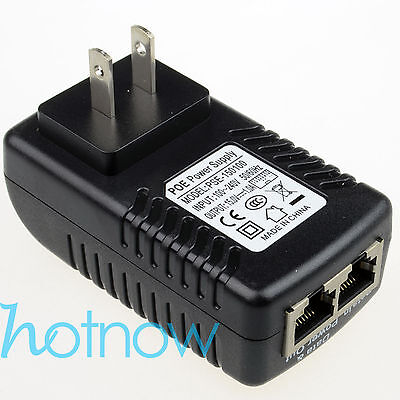 15V 1A PoE Injector Power Over Ethernet Adapter Compatible Ubiquiti POE-15-12W
