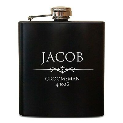 Personalized Flask Groomsman Gift - Groomsman Flask Set - Best Man Groom