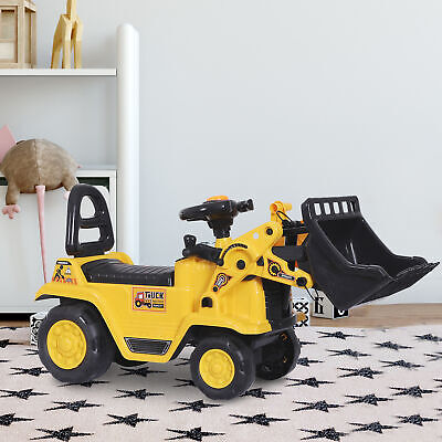 Ride Toy Tractors - Ride On Bulldozer Digger Tractor Pulling Cart Pretend Play Construction Truck