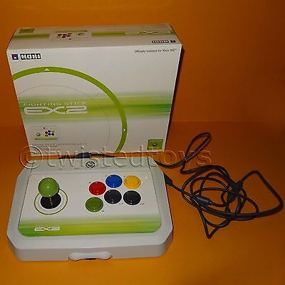 Hori Fighting Stick 360 - XBOX 360 HORI EX2 FIGHTING STICK ARCADE FIGHTSTICK JOYSTICK CONTROLLER BOXED