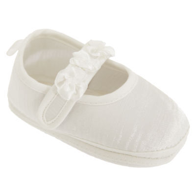 Baby Girls Faux Satin Mary Jane Christening Shoes (BABY1212)