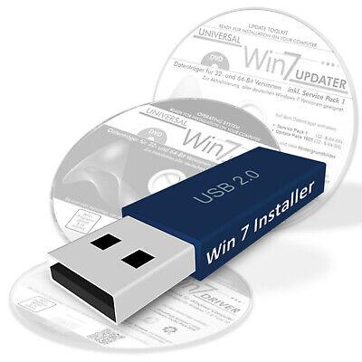 Win 7 Installer Stick für alle Windows 7 Versionen mit Treiber- und Update-Packs ()