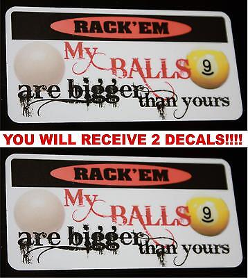 Bigger than yours  funny decal style 2 for predator pool players