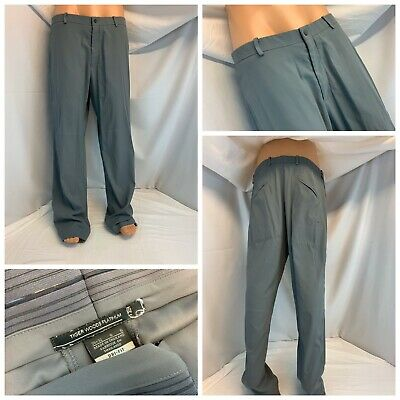 Nike Tiger Woods Platinum Series Golf Pants 36x32 Gray Poly Flat YGI C0-893