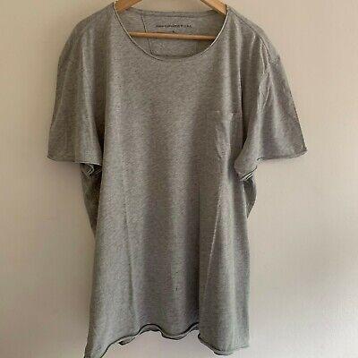 John Varvatos Mens Designer Grey Pocket T-Shirt XL Extra Large