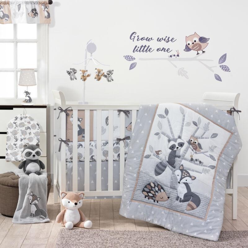 Bedtime Originals Little Rascals 3-Piece Crib Bedding Set - Gray, White, Animals
