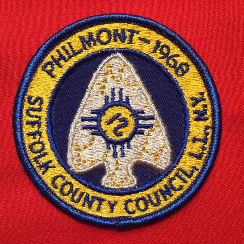 Boy Scout 1968 Suffolk County Council N.Y. Philmont Contingent Patch