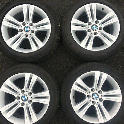"BMW 3 SERIES F30 2013 SET OF 17"" ALLOY WHEELS 392 TYRES 6796239 7.5j et37 1"