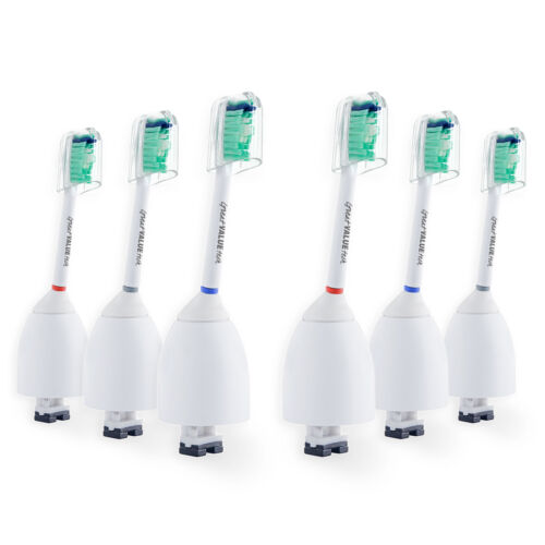 6 Pk Sonic Toothbrush Heads compatible with Philips Sonicare e Series Essence