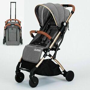LEJOUX™ FOLDABLE BABY TROLLEY STROLLER PUSHCHAIR PRAM TODDLER BUGGY + RAIN COVER