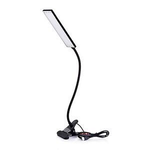 KOOTION USB Flexible Gooseneck Tube Clip On LED Desk Lamp Reading Light 48 Leds