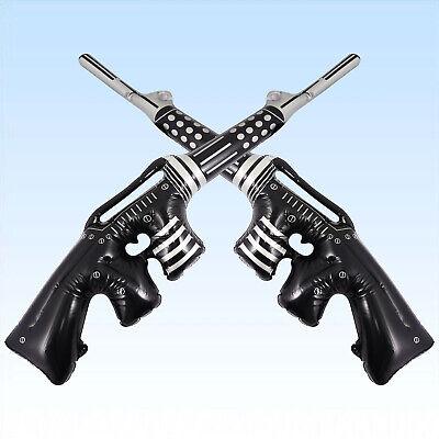 2 aufblasbare Maschinenpistolen 90cm MPI Gewehre Waffen Gangster - Aufblasbare Pistole