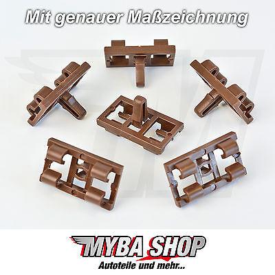 15x Türdichtung Zierleistenklammer Clips für BMW X5 E53-51337052945