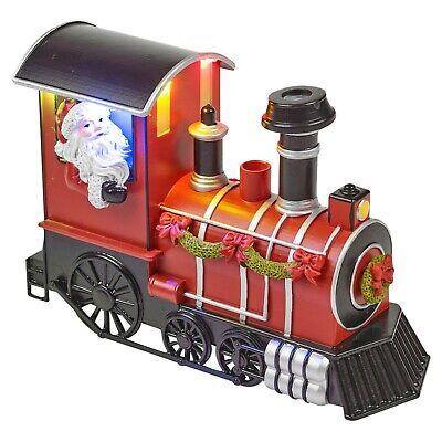 Christmas Smoke & Light Up LED Santa Express Locomotive Train Xmas Toy Gift Set