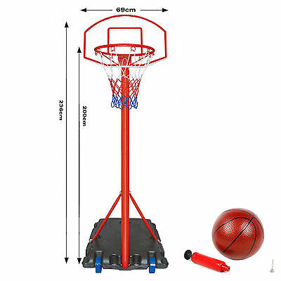 Free Standing Basketball Net Hoop Backboard , Adjustable Stand Set 236 cm Height