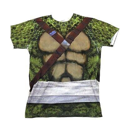 TMNT Leonardo Turtle Shell Shirt Size Medium TEENAGE MUTANT NINJA TURTLES Promo