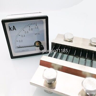 Us Stock Dc 01000a Analog Amp Current Needle Panel Meter Ammeter Xt-72 Shunt