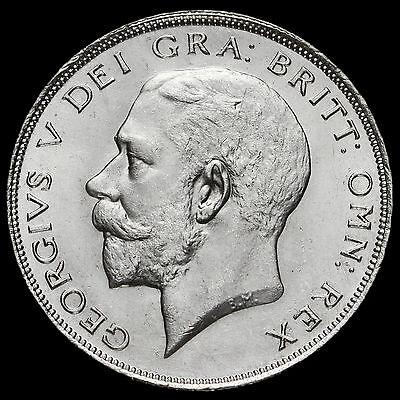 1923 George V Silver Half Crown, Scarce, A/UNC