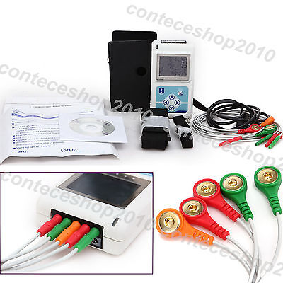 New Contec Ecg 3 Channel Holter Ecg Systempc Software 24 Hours Recorder Tlc9803