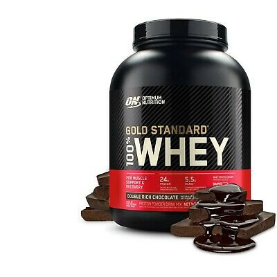 Gold Standard 100% Whey Protein Powder, Double Rich Chocolate, 24g Protein, 5 LB