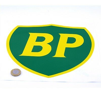 BP OIL 89 On Shield Classic Car STICKERS 225mm Sports Racing decal Petrol