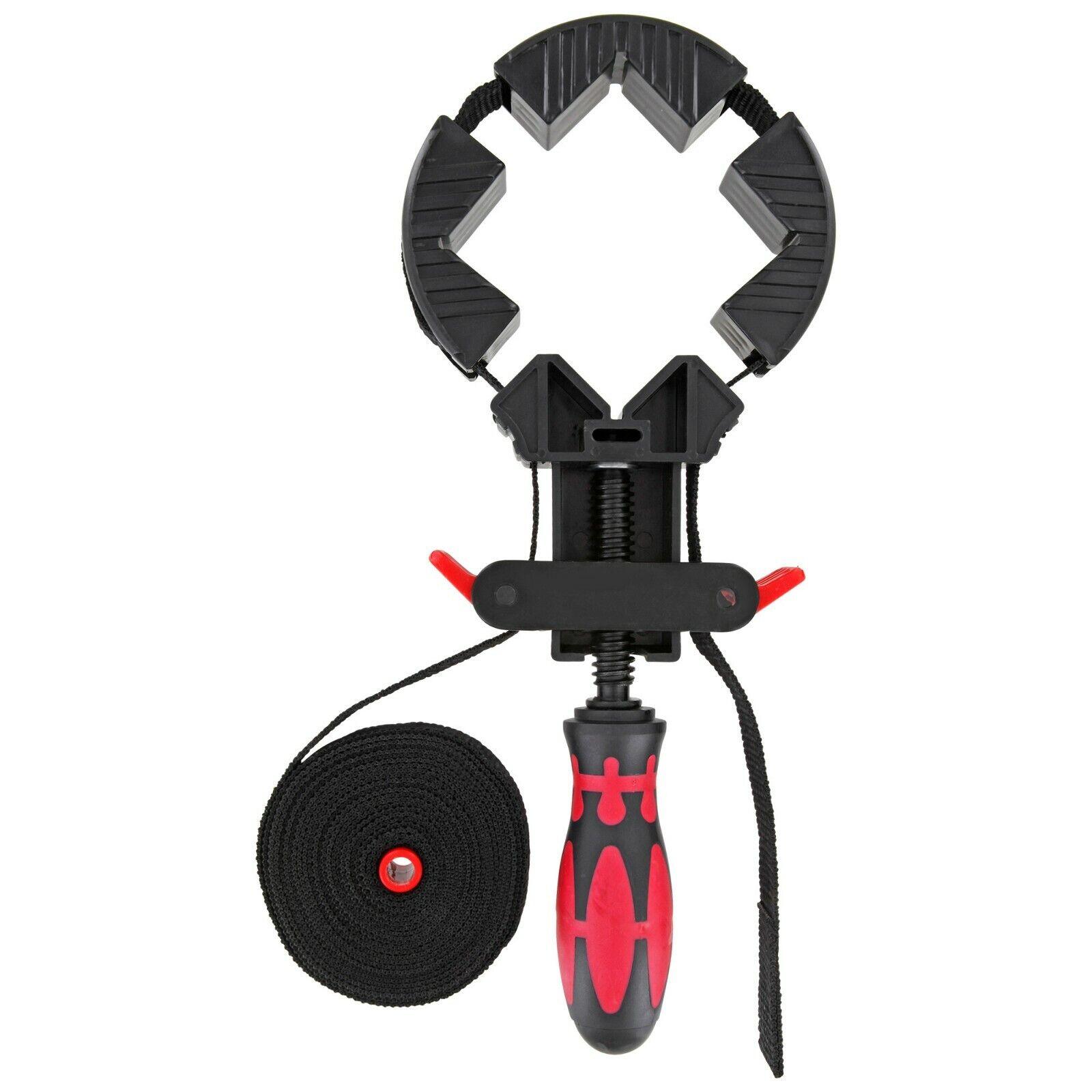 Bandspanner Werkzeug zum Leimen Rahmenspanner mit 4 Spannbacken und Nylongurt