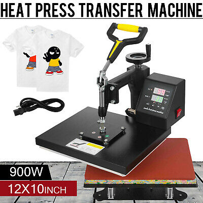 "T-Shirt Heat Press Sublimation Transfer Machine 360 Degree Swing Away 12"" x 10"""