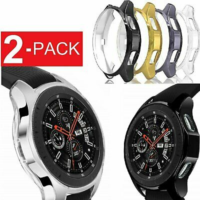 2 Pack Soft TPU Protector Watch Case Cover For Samsung Galaxy Watch 42mm 46mm Jewelry & Watches