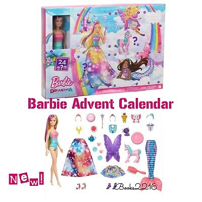 Barbie Dreamtopia Advent Calendar W/ Blonde DOLL & Accessories