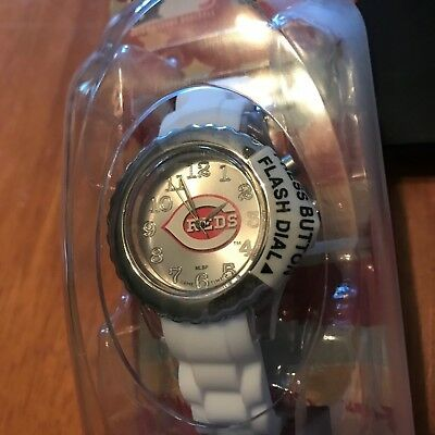 CINCINNATI REDS Game Time MLB Fan WATCH  FLASH WHITE Series NEW