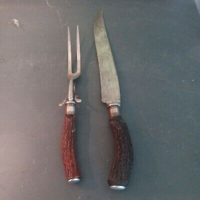 Antique Wilbert Cutlery Carving Knife And Serving Fork Thanksgiving set