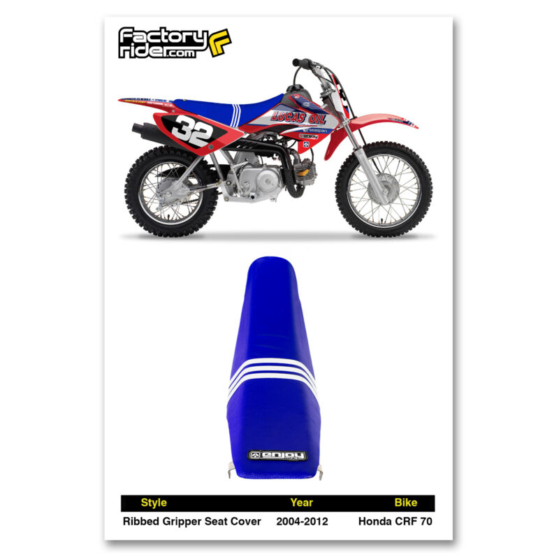 2004-2012 HONDA CRF 70 Troy Lee Designs Adidas SEAT COVER BY Enjoy MFG  $54.99. Safety Harbor,FL,USA