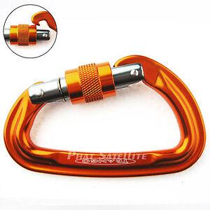 Trango-SuperFly-Screw-Lock-Gate-Carabiner-Clip-Gray-Orange-STRONG-light-Quality