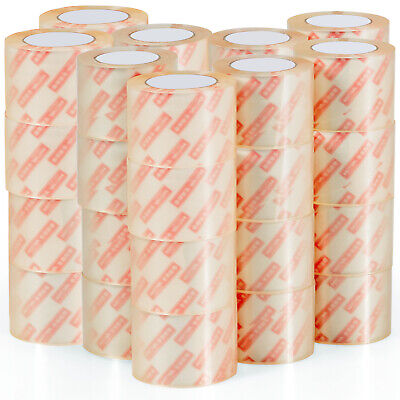 Goplus 36 Rolls 3x55 Yards165ft Box Carton Sealing Packing Package Tape Clear